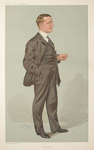 Caricature of Finley Peter Dunne (1867-1936). ...