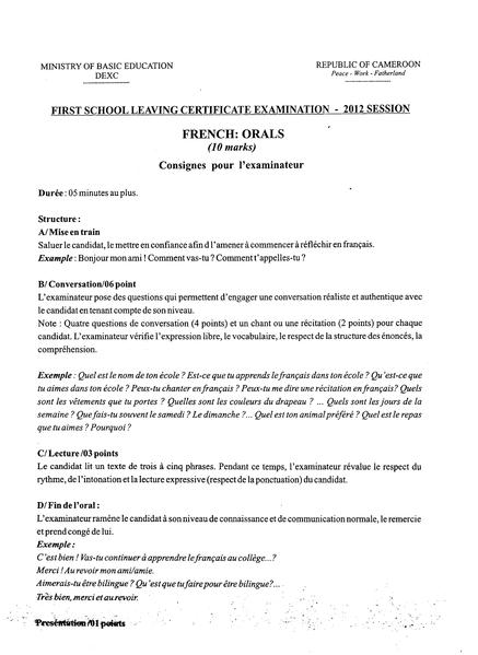 FileFirst School Leaving Certificate ExaminationPdf