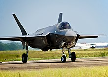 A Lockheed Martin F-35A Lightning II of the type to be based at RAF Lakenheath.