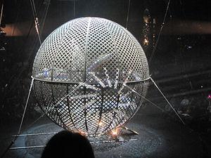 "Globe of death - Performance at ""Flic Flac"" in 2010"