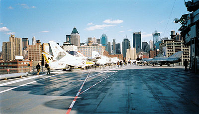 Flight Deck, USS Intrepid, Sea, Air & Space Museum, New York City. (727856058).jpg