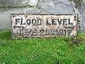 Flood level marker, Bruton (geograph 2156859).jpg