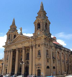 St. Publius Parish Church - View of the Church of St. Publius