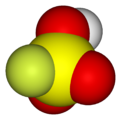 Spacefill model of fluorosulfuric acid