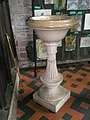 Font in the south chapel at St Laurence, Ludlow - geograph.org.uk - 1444632.jpg