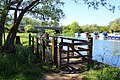 Footbridge on the Thames Path - geograph.org.uk - 1910961.jpg
