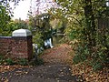 Footpath leading from Pondtail Road bridge down to Basingstoke Canal - geograph.org.uk - 1037962.jpg