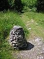 Footpath marker, Beetham Fell - geograph.org.uk - 1358490.jpg
