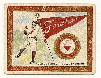 Fordham Rams baseball - Tobacco card circa 1910