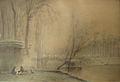 Foreau H.L. - Watercolour - Les quais de Seine à Paris - 58x38cm.jpg