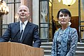 Foreign Secretary William Hague with Daw Aung San Suu Kyi (7415131742).jpg