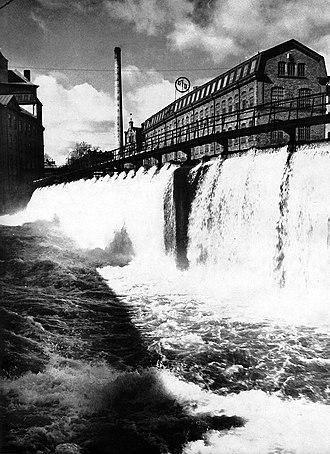 Moa Martinson - One of the textile mills in Norrköping, Förenade Yllefabrikerna, 1953