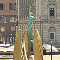 Fountain of Eternal Life and Cleveland Mall Torch (9340245962).jpg