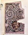 Fragment of mosaic pavement with Medusa and floral patterns (3rd cent. A.D.) at the Archaeological Museum of Sparta on 15 May 2019.jpg
