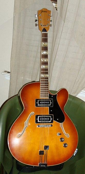 Framus - Image: Framus archtop guitar of Edward Lund's dad (clip)