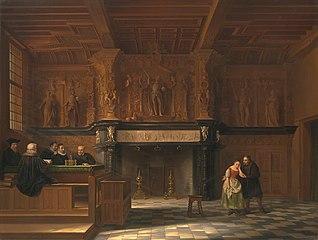 De gerechtzaal van de Burg. 't Vrije, te Brugge