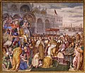Francesco salviati e giuseppe porta detto il salviatino, Riconciliazione di papa Alessandro III e Federico Barbarossa, 1565-75, 01.jpg