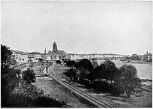 Frankfurt Am Main-DSGVFFM-001-Stadtbild von Westen-Carl Friedrich Mylius-um 1860.jpg