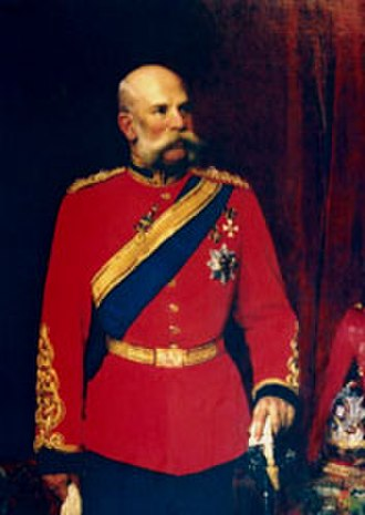 1st King's Dragoon Guards - Franz Josef I in the uniform of a Colonel of the 1st Dragoon Guards