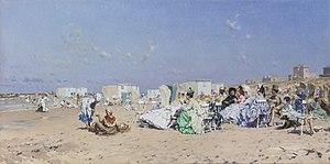 Frederik Hendrik Kaemmerer - The Beach at Scheveningen.