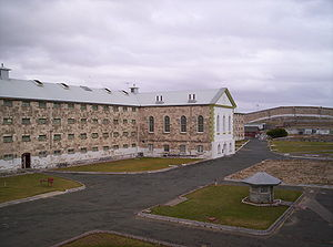 Punishment in Australia - The main cell block of old Fremantle Prison.