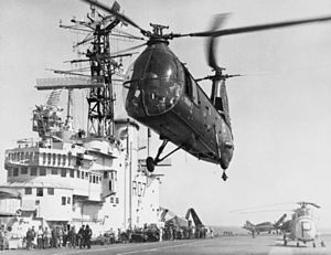 French HUP landing on HMS Albion (R07) 1957.jpg