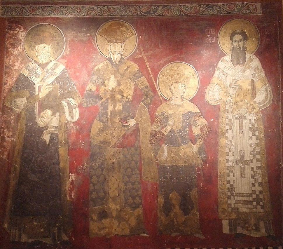 Freska iz crkve Svetog Dimitrija u Pećkoj Patrijaršiji