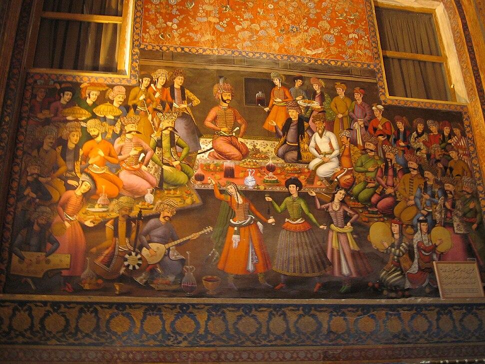 Fresque chehel sotoun esfahan