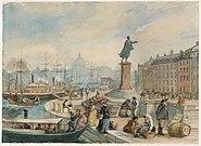 Fritz von Dardel-Skeppsbron vid Gustav IIIs staty-1860