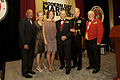 From left, the Master of Ceremonies, retired Marine Corps Lt. Gen. Ronald S. Coleman; the First Lady of the Marine Corps, Bonnie Amos; Shannon Maxwell; retired Lt. Col. Tim Maxwell; the 35th commandant and first 130925-M-LU710-420.jpg