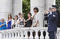 Front row, from right, first lady Michelle Obama; Lilibet Hagel, the wife of Secretary of Defense Chuck Hagel; Deanie Dempsey, the wife of U.S. Army Gen. Martin E. Dempsey, the chairman of the Joint Chiefs 130527-D-HU462-425.jpg