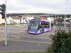 Ftr bus in West Way, Swansea city centre, 19035 (S40 FTR), 2 October 2009.jpg