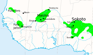 Massina Empire - The Fulani Jihad States of West Africa, c. 1830.