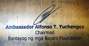 Alfonso Yuchengco - Signature