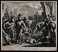 Gaius Mucius Scaevola's ordeal by fire; Gaius Mucius is hold Wellcome V0048235.jpg
