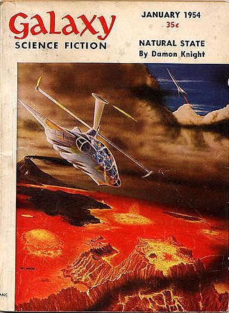 """Tomorrow and Tomorrow and Tomorrow"" was originally published in the January 1954 issue of Galaxy Science Fiction, under the title ""The Big Trip Up Yonder"" Galaxy 195401.jpg"