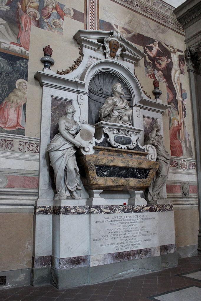 Giulio Foggini, The Tomb of Galileo Galilei in the Basilica Santa Croce, Florence
