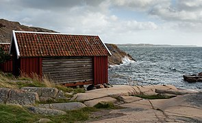 Gamlestan fishing huts at Vikarvet Museum 1.jpg