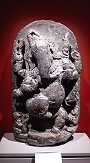 Stele with dancing Ganesha