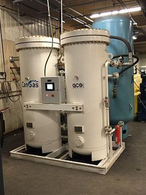 Pressure swing adsorption - Nitrogen generator using PSA