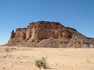 The Sudans - Jebel Barkal mountain in Nubia, a UNESCO World Heritage Site.
