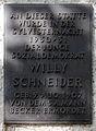 Gedenktafel Hufelandstr 39 (Prenz) Willy Schneider.jpg
