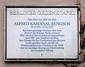 Gedenktafel Tempelhofer Weg 26 (Schöb) Alfred Kardinal Bengsch.JPG