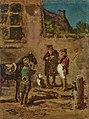 Gemälde - Reiter mit Pferd im Hof - Carl Spitzweg.jpg