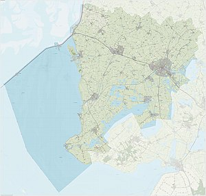 Súdwest-Fryslân - Dutch Topographic map of Súdwest-Fryslân, June 2015
