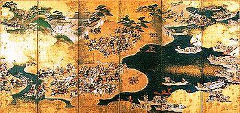 Scene of the Genpei War (17th century screen).