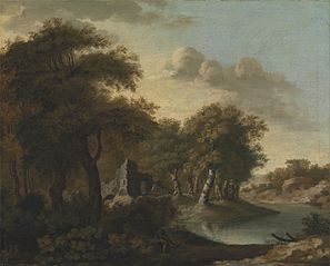 A View Near Arundel, Sussex, with Ruins by Water