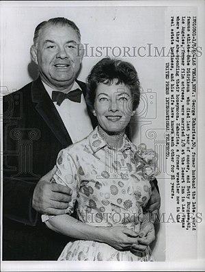 George Zaharias - Image: George Zaharias and Betty Burgess 1960