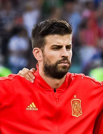Gerard Piqué - Piqué with Spain at the 2018 FIFA World Cup
