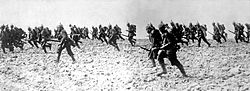 German infantry on the march on August 7, 1914.